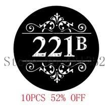 221B Baker <b>St</b> по мотивам Шерлока Холмса стеклянный кабошон ...