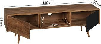 FineBuy <b>TV</b> Lowboard <b>Solid wood Sheesham</b> 140 x 45 x 35 cm <b>TV</b> ...