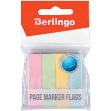 <b>Флажки</b>-<b>закладки Berlingo</b> 12*50мм, 100л*<b>4</b> пастельных цвета ...