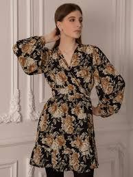 Floral-print wrap mini dress - Lichi