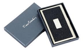 Купить <b>визитница в металлическом</b> корпусе (черная) от Pierre ...