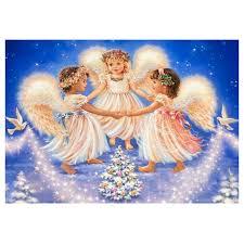 <b>DIY 5D</b> Diamond Painting Happy Angels Cross Stitch Kit for <b>Kids</b> ...
