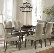 Transitional Dining Room Set French Provincial Dining Chair With Washable Linen Slipcover