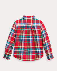 <b>Plaid Cotton</b> Twill <b>Shirt</b>