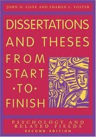 Buy Dissertations And Theses from Start to Finish  Psychology And