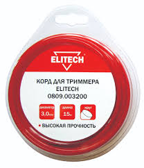 <b>леска для триммера elitech</b> 3mm x 15m 0809 003900 | novaya ...