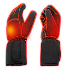 Rabbitroom Mens <b>Winter Electric Heated</b> Gloves AA Battery Power ...