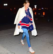 sneakher style gigi hadids ranger style in black orchid tom ford x nike air air force 1 style