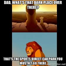 Dad, what's that dark place over there? That's the sports direct ... via Relatably.com