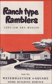 Mid Century Home Plans   Retro House Layouts and Floor Plans     Weyerhaeuser Rambler Ranch Home Plans Our house plans of the mid th century