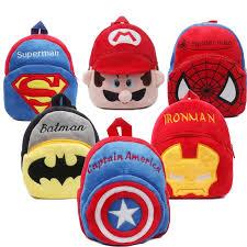 Cartoon Kids Plush Backpack <b>kindergarten School bag</b> for boys girls ...