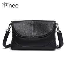 <b>iPinee</b> Women Shoulder Bag <b>100</b>% <b>Genuine</b> Leather Fashion ...