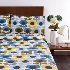 living room orla kiely multi: orla kiely multi flower oval duvet cover marine single
