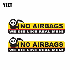 YJZT 2X 13.3CM*<b>3.5CM</b> Funny Skeleton Head NO AIRBAGS WE ...