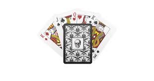 <b>HALLOWEEN</b> Black <b>Gothic</b> Damask <b>Pattern Skull</b> Playing Cards ...