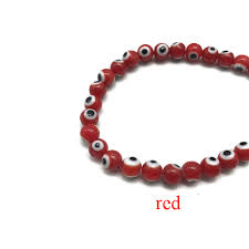 <b>4mm</b>/<b>6mm</b>/<b>8mm Colorful Turkish Evil</b> Eyes Beads Evil Eye Necklace ...