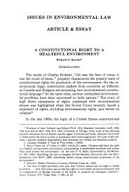 a constitutional right to a healthful environment issues in    handle is hein journals vlr  and id is raw text is  issues