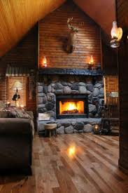 cabin decor lodge sled: country cottage style wallpaper log cabin living room lodge style