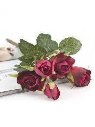 """<b>Цветок</b> искусственный """"Роза кустовая бордовая"""" <b>Gloria Garden</b> ..."""