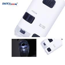 <b>80X</b> 120X Zoom Adjustable Mini Microscope <b>Magnifier LED</b> ...