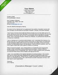 Operations Manager Cover Letter Sales Drosdo com