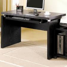 black contemporary home office set black glass office desk 1