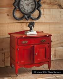 diy chalk paint furniture ideas with step by step tutorials red antique wash stand chalk painting furniture ideas