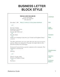 block style business letter format letter format  block style business letter format