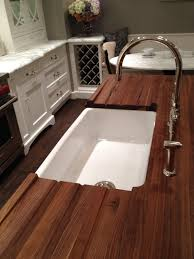 countertops dark wood kitchen islands table: winsome natural wooden walnut bucther block countertop and