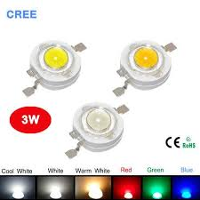 <b>100pcs</b> / Lot <b>3W</b> haute puissance LED Diode électroluminescente ...