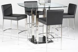 size dining room contemporary counter: full size of dining room modern  piece set with black leather chairs stainless steel legs
