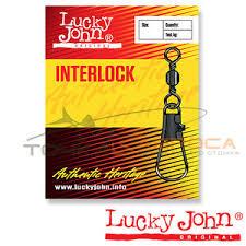<b>Вертлюги c застежкой Lucky</b> John BARREL AND INTERLOCK Black