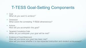 setting your goals for ttess memorial hs training 11 t tess goal setting components goal what do you want to achieve