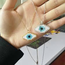 SHINUSBOHO <b>lucky</b> eye necklace women MIYUKI collier long ...