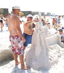 The Siesta Sand Sculpture Contest brings out the creativity!