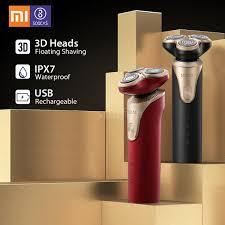 Xiaomi Mijia <b>SOOCAS</b> S3 <b>Electric Shaver</b> Dry Wet Shaving Wireless ...