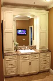 chic vanity weathered oak pine bathroom