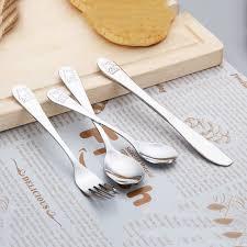 <b>4pcs</b>/<b>set Baby</b> Dishes <b>Teaspoon Spoon</b> Fork Knife Utensils Set ...