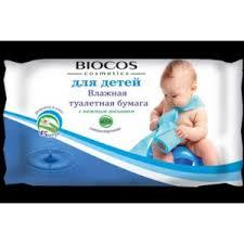 Влажная <b>туалетная бумага Biocos</b> Cosmetics Для детей с ...