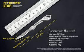Free Shipping <b>NITECORE NTK05 UltraTiny</b> Titanium Keychain Knife ...