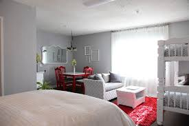 the upward bound house by kelly laplante eclectic bedroom idea in los angeles with gray walls bca living room furniture