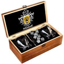 <b>Подарочный набор бокалов</b> для мужчин с камнями для ...