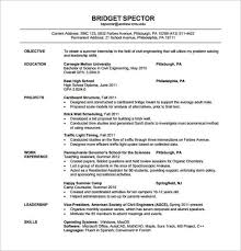 civil engineer fresher resume pdf template freshers resume samples