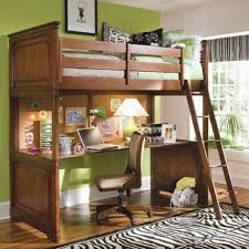 wood bunk beds with desk bed with office underneath