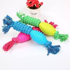 Generic OR Cotton Rope Dog Toy Pet Molar <b>Bite Candy</b> Color Hand ...