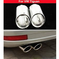 Rear <b>Exhaust Muffler Tail Pipe</b> Trim Cover 2pcs Silver Pipes