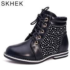 <b>SKHEK Kids Boots PU</b> Leather Boys Girls Boots Children kids shoes ...
