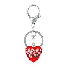 <b>2019</b> Fashion Jaime <b>Mamie</b> Heart Key Chain Handmade Art je suis ...