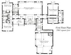 Plan DJ  Modern Bed Farmhouse Plan   Farmhouse  Farmhouse    First Floor Plan of Country Farmhouse Historic House Plan