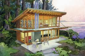 Cabin Plans   Houseplans comSignature Cottage style home  vacation home elevation